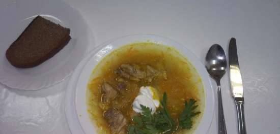 """Meat cabbage soup """"Goodbye winter"""""""