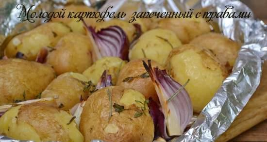 Young potatoes baked with herbs (lean)