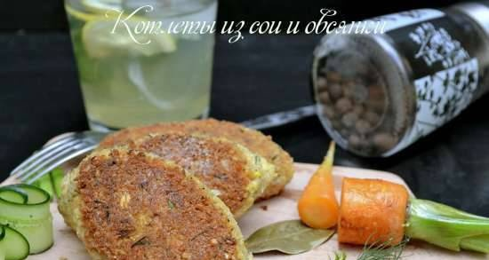 Soy and oatmeal cutlets