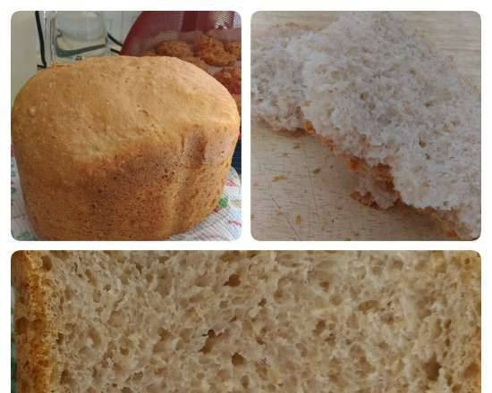 """Bread """"With the world on a string"""" in a Panasonic bread maker"""