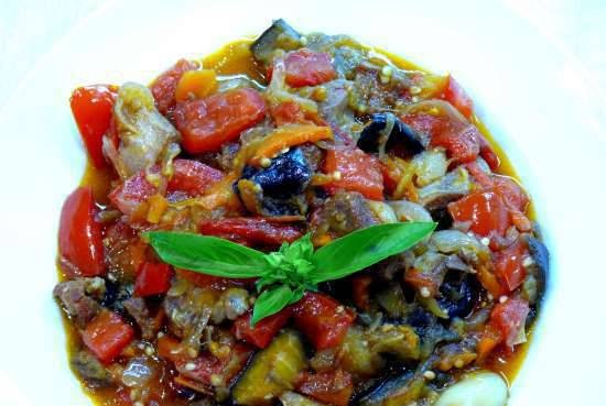 Imam Bayildy (vegetable dish with eggplant with added meat)