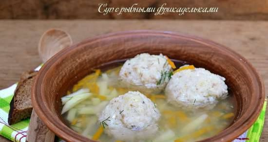 Soup with fish meatballs