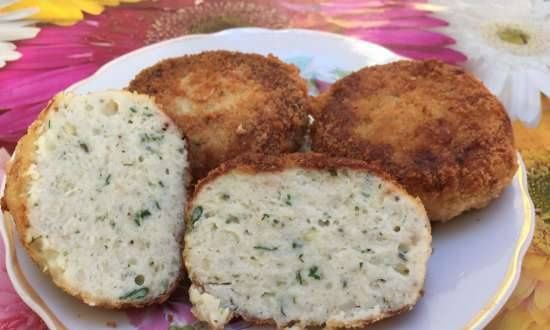 Pike or catfish fish cakes