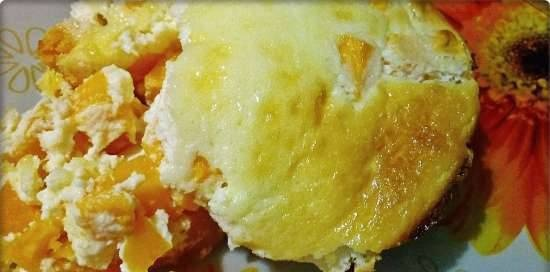 Sunny pumpkin baked with curd cheese