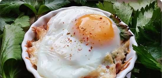 Cocotte eggs in the oven