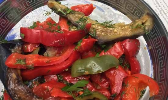 Pepper and eggplant appetizer