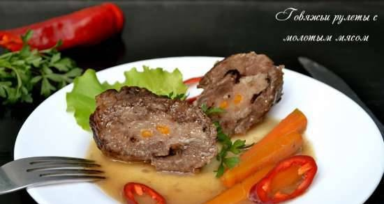 Beef rolls with ground meat