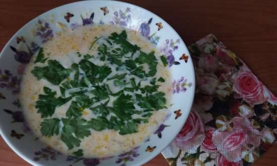 Fast cheese soup from Ilya Lazerson