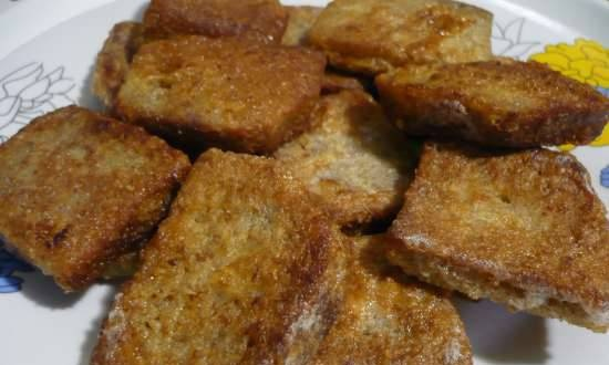 Brown bread croutons
