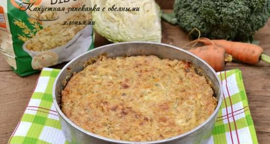 Cabbage casserole with oatmeal