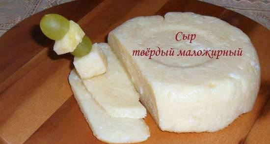 Low fat hard cheese