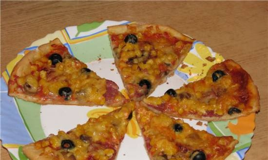 Pizza (instructions for the bread maker)