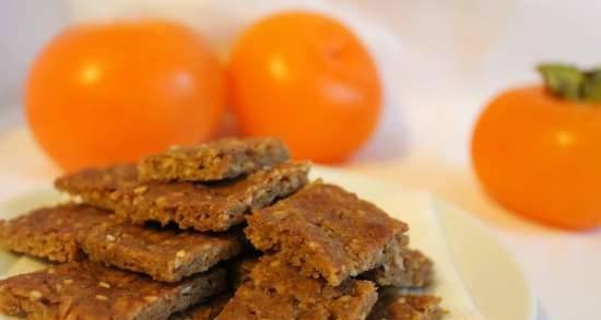 Oatmeal squares with persimmon