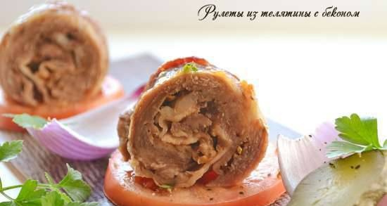 Veal rolls with bacon