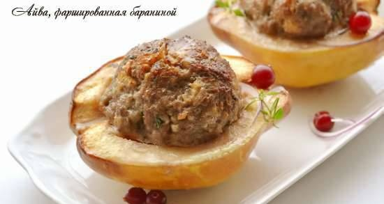 Quince stuffed with lamb