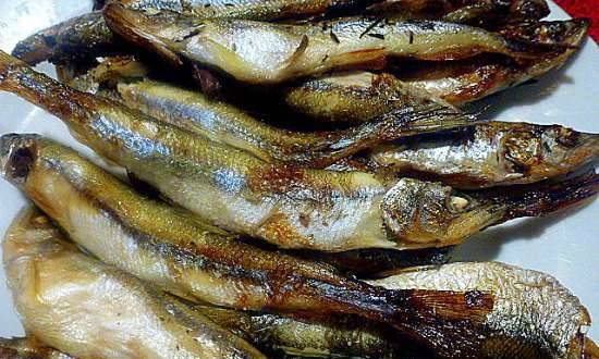 Sakhalin smelt baked in the oven as prevention of osteoporosis