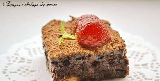 Brownie with avocado without oil