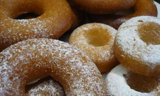 Donuts from bulk yeast dough (oven)