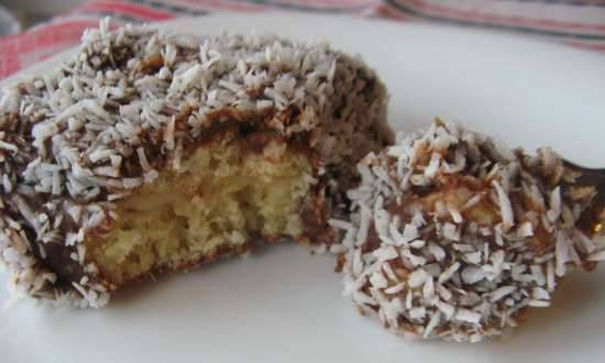 Chocolate-coconut cakes with boiled condensed milk