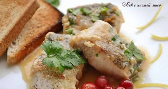 Hake with miso paste