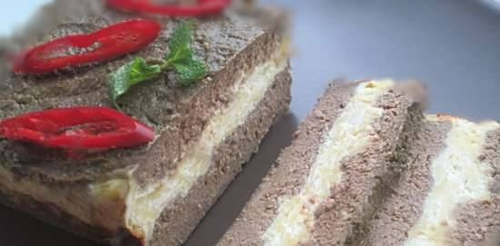 Chicken liver muffin with curd layer