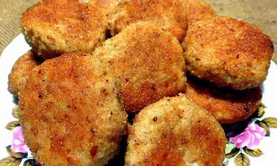 Buckwheat cutlets in the oven