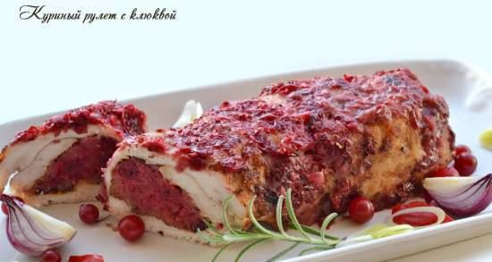 Chicken roll with cranberries