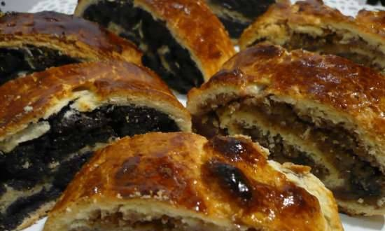 Hungarian Christmas Rolls - Bejgli with Poppy Seeds and Nuts