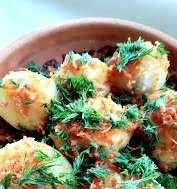 Konchalov style potatoes in the oven