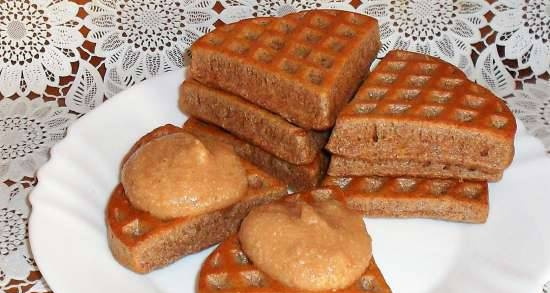 Diet curd waffles (with psyllium) at the Princess pizza maker