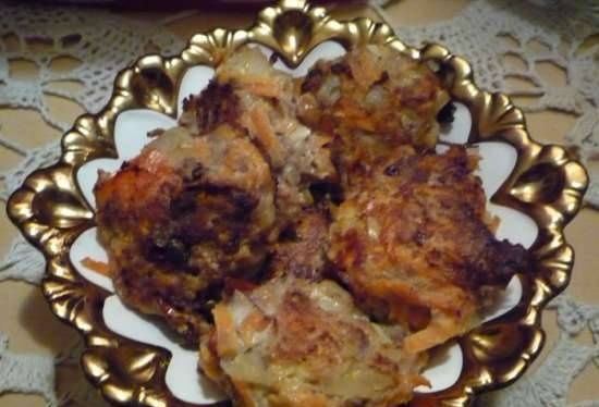 Low-calorie chicken and vegetable cutlets