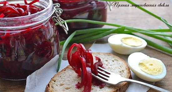 Spicy pickled beets