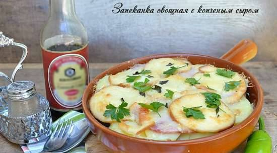 Vegetable casserole with smoked cheese