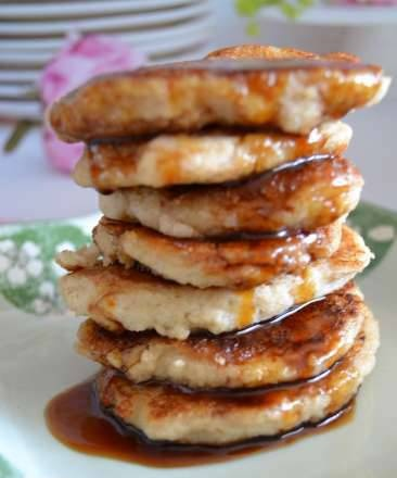 Home-milled multigrain pancakes with flaxseed egg