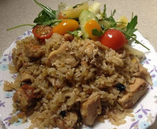 Pilaf with butterfish in a multicooker Element FWA 01
