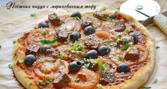 Lean pizza with pickled tofu