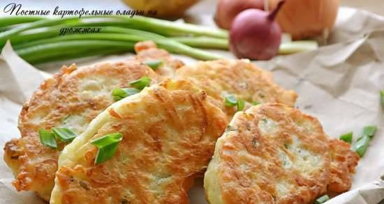 Lean Yeast Potato Pancakes with Green Onions
