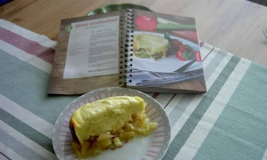 Cottage cheese and semolina casserole with rhubarb (slow cooker)
