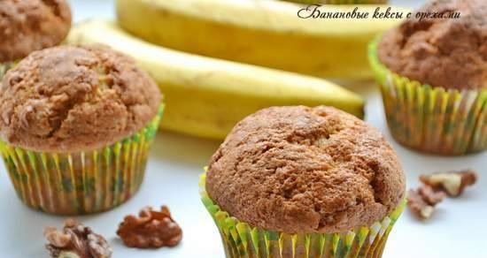 Banana muffins with nuts