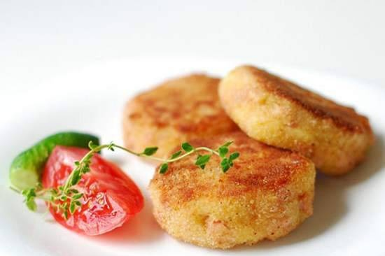 Cheese and sausage cutlets