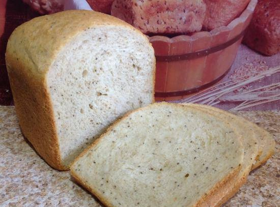 Milk bread with chia seeds