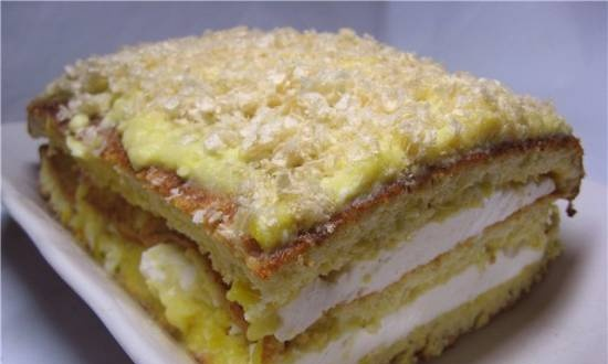 Three-layer biscuit cake
