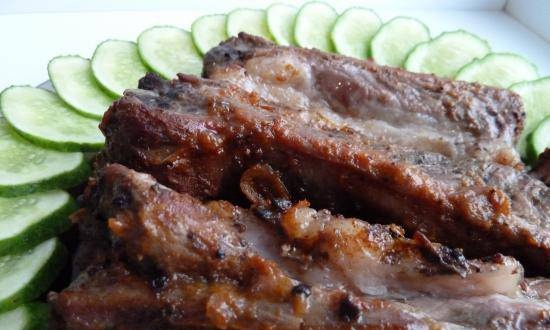 Pork ribs in spices