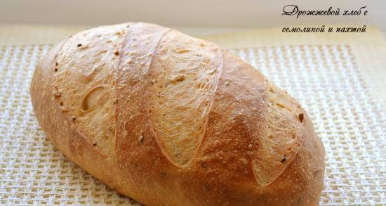 Yeast bread with semolina and buttermilk