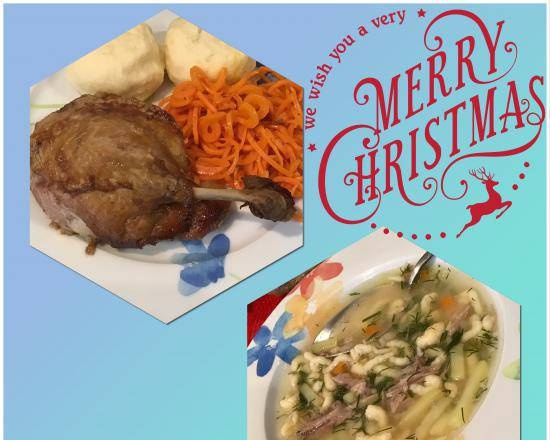 Duck christmas lunch
