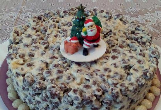 """Cake without baking """"Crunch"""" for the festive table"""