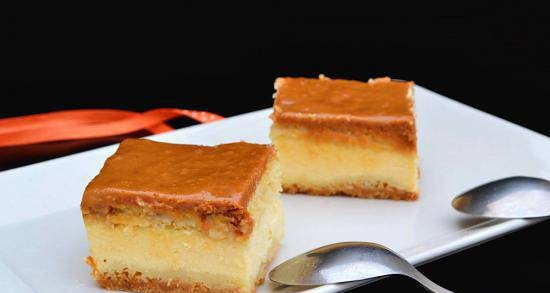 """Cottage cheese cake """"Royal marble"""""""