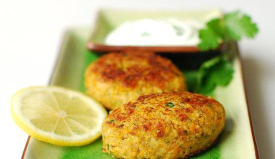 Canned salmon, quinoa and sweet potato cutlets