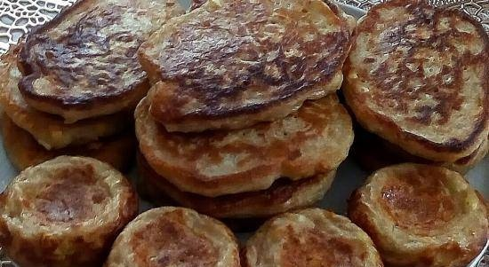 Filled pancakes or lazy pies with cabbage and eggs