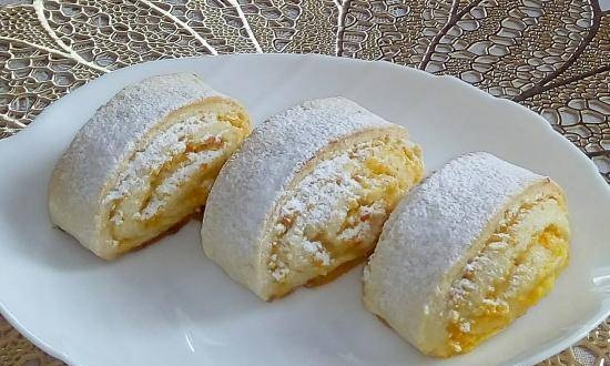 Soft biscuits with orange